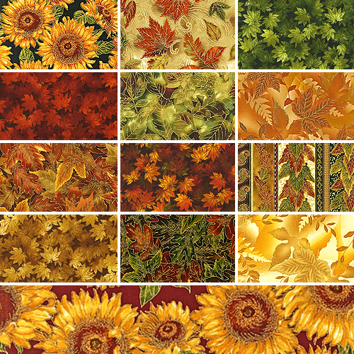 Robert Kaufman SHADES OF THE SEASON AUTUMN Fat Quarters 13 ...