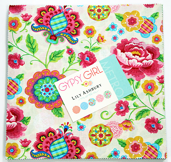 Layer Cake Quilt Fabric : Lily Ashbury GYPSY GIRL 10