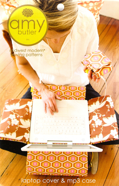 Amy Butler Laptop Cover and  Case Quilting Sewing Fabric Pattern