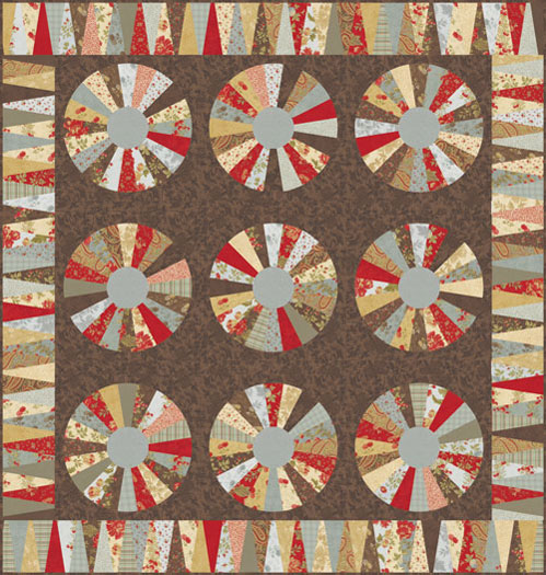 Quilt Patterns With 3 Fabrics : Moda DOUBLE CHOCOLAT QUILT KIT Quilting Fabric Pattern 3 Sisters KIT4090 eBay