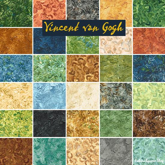 Robert Kaufman Vincent Van Gogh Blenders Fat Quarter